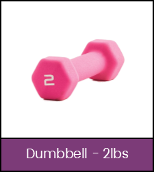 Pink 2 pound dumbbell
