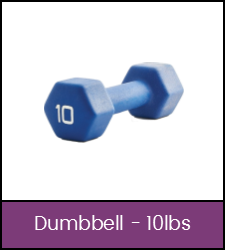 Blue 10 pound dumbbell