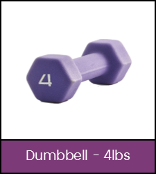 Purple 4 pound dumbbell