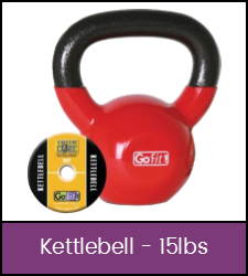 Red 15 pound kettlebell kit