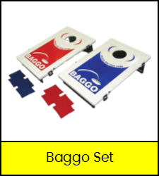 Red and blue Baggo set