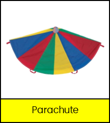 Multi-colored play parachute game