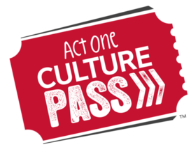 Act One Culture Pass logo, red