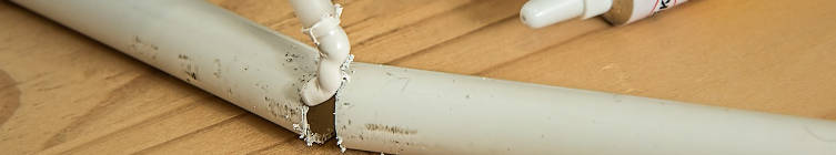 Repairing PVC pipe with bonding agent
