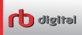 RB Digital logo is red and gray