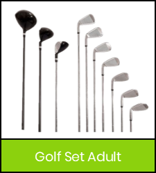 Golf clubs image with green frame that links to catalog record