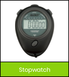 Black digital stopwatch image with green frame that links to catalog record