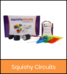 Squishy circuits kit in orange frame image with link to catalog record