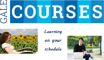 """Gale Courses: Learning on your schedule"" with students using laptops in remote locations"