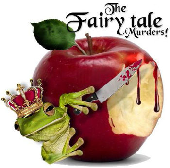 """The Fairytale Murders!"" by bleeding apple and frog prince with bloody knife"