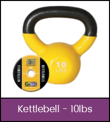 Yellow 10 pound kettlebell kit