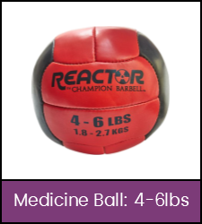 Red and black medicine ball