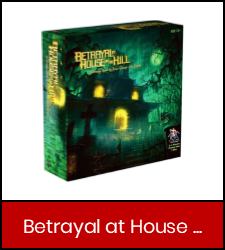 Betrayal at House on the Hill game inside red frame