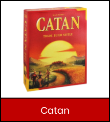 Catan game inside red frame