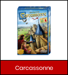 Carcassonne game in red frame