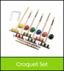 Croquet set image with green frame that links to catalog record