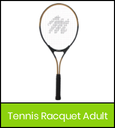 Tennis raquet image with green frame that links to catalog record