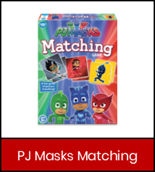 PJ Masks Matching  game image in red frame with link to catalog record