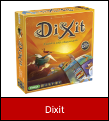 Dixit game inside red frame