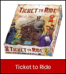 Ticket To Ride game in red frame