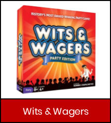 Wits and Wagers game in red frame