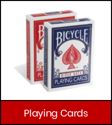 Bicycle Playing Cards in red frame